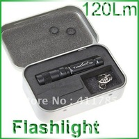 Cree XP-E (R2) Compact Flashlight - Tank007 E09 (120 Lumens, 3 Modes, 1 x AAA Battery)
