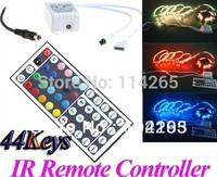 12V 44 Keys IR Remote Controller for RGB LED Strips SMD 5050 3528 Strip Light Free Shipping