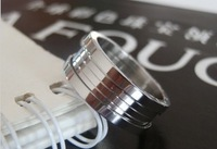 Special recommended brand titanium steel rose gold version of the classic threaded Ring Ring