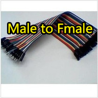 Free Shipping 80pcs dupont cable jumper wire dupont line male to female dupont line 20cm 1P 40P IN STOCK