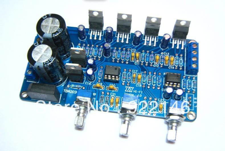 SubWoofer TDA2030A 2.1 estéreo placa amplificadora DIY kits de transporte gratuito(China (Mainland))