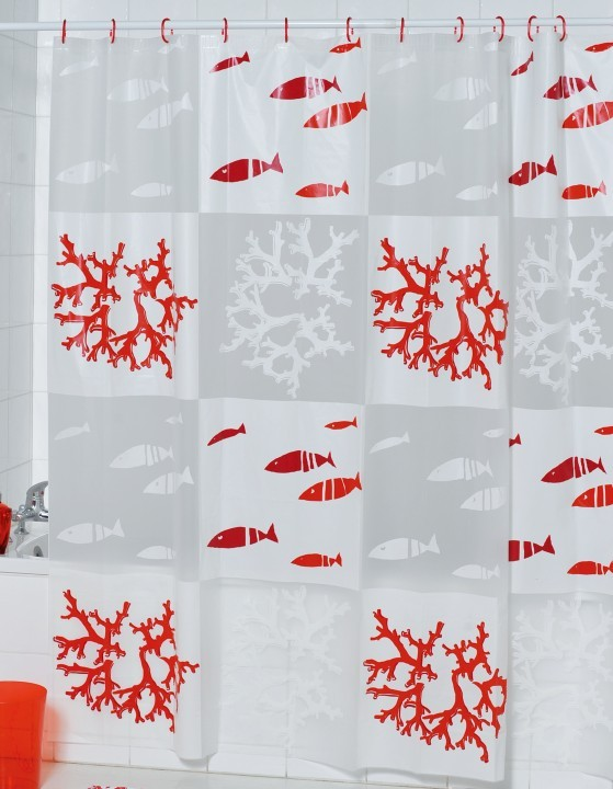 Coral fish 180x180cm , quality shower curtain peva shower curtain(China (Mainland))