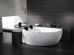 Sanitary ware massage bathtub ols-6122 double bath pillow(China (Mainland))