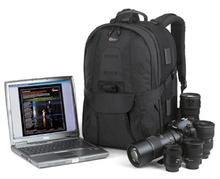 "Freeshpping Lowepro compuTrekker AW Photo DSLR Camera&17"" Laptop Bag Digital SLR travel Backpack case+rain Cover for nikon canon(China (Mainland))"