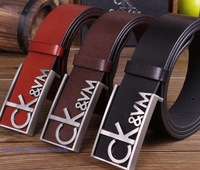 2013 New arrival ! High Quality Fashion Design Alloy Belt  Buckle Men's 100% Cowhide Belts Free shipping Best  Holiday Gift