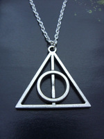 Low Price Free shipping Fashion Harry Porter Deathly Hallows Jewelry Pendant Necklace Alloy Body Chain,silver Pendant Best Hot