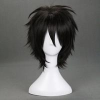 Free Shipping Flower eleomargaric gareki karneval anime black cosplay wig 122a