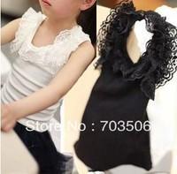 wholesale 5pcs/lot 2013 cute girl summer lace tank vest ,free shipping