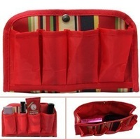 Multifunctional red  cosmetic  finishing  debris   storage  storage bag