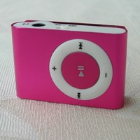 MINI clip MP3 Player with Micro TF/SD card Slot with mini MP3 no earphone no usb (only mp3) FREE SHIPPING 2pcs/lot