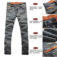 2013 men's spring clothing spring painted pocket applique Men trousers men's jeans
