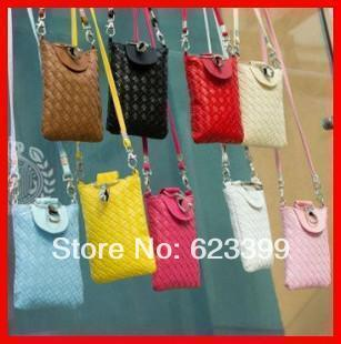 2013 spring small messenger bag woven bag mobile phone bag women's handbag small cross-body bag(China (Mainland))