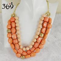 Hot Sale multicolor BIB Beads short necklace Statement Necklace
