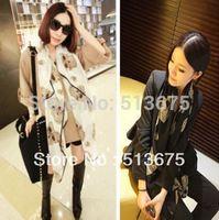 Free shipping 2014 new female large scarf cashmere Chiffon big ghost mask pattern long scarf shaw