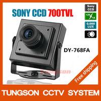 "Wholesale1/3"" SONY CCD 700TVL Mini Video Surveillance Night Vision Security Cameras Small CCTV Camera ,Free Shipping"