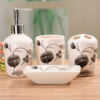 Cup brush ceramic piece set bathroom set bathroom set piece bathroom four piece set