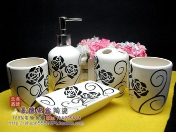 ceramic bathroom set quality bathroom supplies black rose