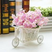 free shipping Artificial flower plastic flower decorations decoration flower set rattan barrowload bowyer winter jasmine rose