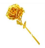 wedding gift Valentine's day 24k gold rose lover's flower 25cm length