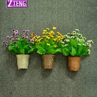 free shipping Gustless princess daisy artificial flower set floral wall decoration flower plastic artificial flower