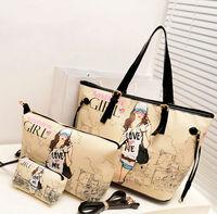 2014 Korean style Women handbag wholesale  new specials print single shoulder bag  SACS  L bag + M bag + purse Bolso bolsa