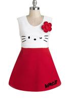 Retail Children clothing baby girl dress Hello Kitty kids clothing,O-neck girl's jumper ,fashion girls dresses GQ-220