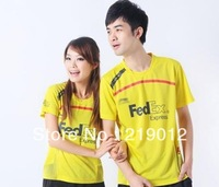 Wholesale Hands the Chinese shirt collar female badminton lovers t-shirts