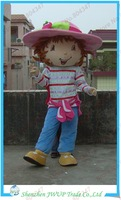 Newest Strawberry Shortcake Girl Cartoon Costumes Christmas Mascot Costume Free Shipping