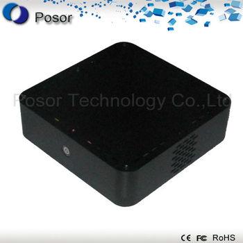 Factory outlets: Dual LAN mini desktop fanless server pc aluminum shell net server system 27C-2:CPU N270 1.6GHz/RAM 1GB/SSD 32GB