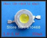 Free shipping 100pcs/lot  High power LED  1W 130-140LM LG 42mil  chip