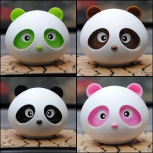 4 pcs/Lot Wholesale Free Shipping 2013 Fashion Panda Car Perfume Balsam Automobile