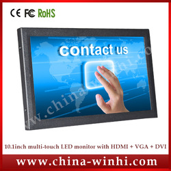 10 inch metal case LCD Touch Screen Monitor+ High Quality +Factory Direct +Speedy Delivery(China (Mainland))