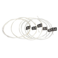 Acoustic Guitar Wound 6 Clear Nylon Strings Gauge Set of Classic Guitar K5BO