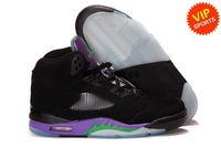 Wholesale Hot Sale Retro 5 V Classic Men's Sports Basketball Shoes (Black/New Emerald-Grape Ice)