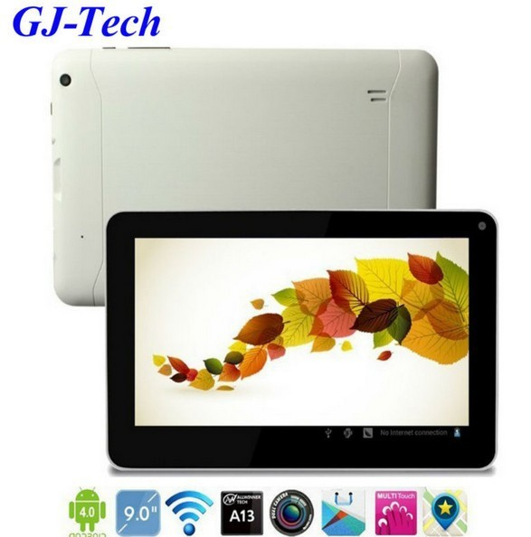 Free shipping 2013 new cheapest best hot brand top ten 9'inch allwinner A13 google android 4.0 ultra thin tablet pc on sale pad(China (Mainland))