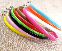 2014 NEW Wholesale nice quality headwear multi Candy colors 8mm Plastics Hairbands hair accessories  headbands 60pcs/lot
