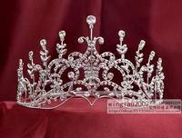 beauty pageant rhinestone crown tiara queen princess headdress No-12