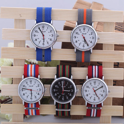2013 Fashion Cheap Design Nylon Band Dual Time Men's Army Military Quartz Watch QZ3357 30Pcs Free Shipping(China (Mainland))