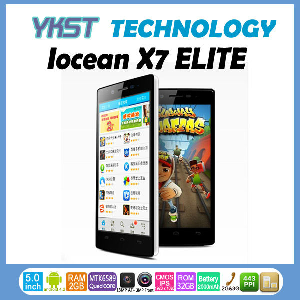 New arrival iocean x7 MTK6589 Quad Core Andriod 4.2 Dual camera 8.0MP dual SIM Slot 1920x1080(China (Mainland))