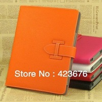 colorful High quality flip PU leather case for ipad Handheld stand leather case with Magnetic Smart Sleep free shipping