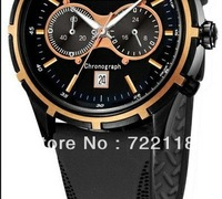 Classic Men's quartz wristwatches AR0584 CERAMIC CHRONOGRAPH WATCH with original box