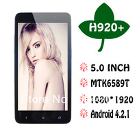 New Arrival Butterfly Tianhe H920+ MTK6589 Quad Core 1.5Ghz Android 4.2 WCDMA GPS X920e 3G Smart Phone
