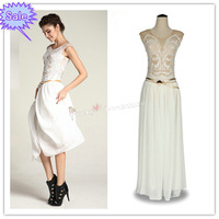 2012 new fashion Sequins Design Chiffon Maxi Dresses Embroidery Bohemian Beach Long Dress vintage elegant gorgeous party evening