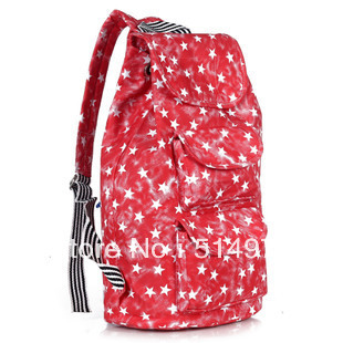 Best Selling!!2013 new fashion women printed backpack joker ladies canvas bags leisure backpack Free Shipping