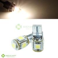 T10 1.2W 3500K 72lm 5-SMD 5050 LED Warm White Light Decoration Lamps width License plate lamp  DC 12V