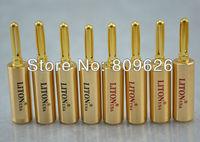 High Performance Hi end USA Liton Red Copper Gold plated spaker banana plug