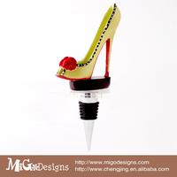 Мода Свадебные подарки сексуальная леопардовым принтом высокий каблук в форме бутылки вина пробка /stainless steel Красная пробка