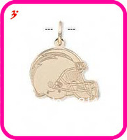 free shipping 50pcs a lot wholesale sport gold plated San Diego Chargers football helmet charms