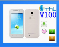 "Free shipping Orignal THL W100 Quad core Android phone MTK6589 4.5"" 960*540 IPS Android 4.2 WCDMA 3G Smart phone Free flip case"