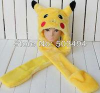 free shipping 5pcs/lot Cartoon Animal Hat Cute Pikachu Hat Plush Winter Warm Earmuff Party Cap Hat